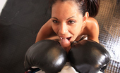 CiCi Amor Sweet Brunette Hottie In Stockings And Boxing Gloves Deepthroats A Hard Cock CiCi Amor