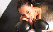 CiCi Amor 507527 Sweet Brunette Hottie In Stockings And Boxing Gloves Deepthroats A Hard Cock CiCi Amor