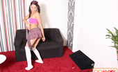 CiCi Amor Beautiful Petite Latina Schoolgirl Bends Over A Couch And Plays With Her Tight Pussy CiCi Amor