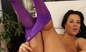 Hide Nylons Carmen Croft Bosomy Carmen Croft Got Stretchy Nylon Legs And Masterbates Hide Nylons