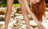 Glam Deluxe Amazing Redhead Beauty Poses Naked By The River Glam Deluxe