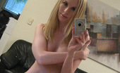 GND Models Angel Blond With Huge Tits Takes Pictures Of Herself In The Mirror GND Models
