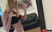 GND Models Angel Cute Blond Teen Takes Pictures Of Herself In The Mirror GND Models