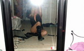 GND Monroe Teen Takes Pictures In The Mirror Of Her In Her Black Boots GND Monroe