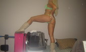 GND Monroe Teens Tight Pussy Is Barely Covered By Her Green Thong GND Monroe