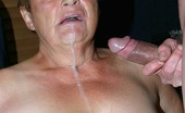 Granny Ultra Pretty Plumper Granny Ginger Spice Showing Off Her Ample Set Of Knockers And Sucking A Cock Granny Ultra