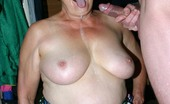 Granny Ultra Hot Granny Ginger Spice Playing With Her Big Bosom While Sucking Off A Huge Cock Granny Ultra