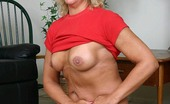Granny Ultra GILF Pornstar Alicia Playing With Her Boobs And Raises Her Legs To Show Off Her Coot Granny Ultra
