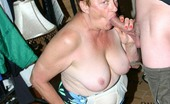 Granny Ultra Blonde Granny Ginger Spice Bares It All In Front Of The Camera And Working A Cock With Her Lips Granny Ultra