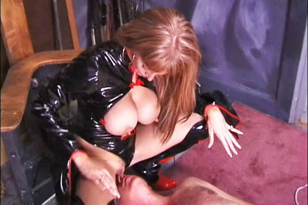 Face Sitting Freaks 509994 Candy Cottons Smothering Torture Chamber Dominatrix Candy Cotton Ties Her Victim To Cross And Smothers Him With Her Gigantic Tits. She Forces Him To The Ground, Stands Above Him And Gets Herself Off. Candy Cotton Continues To Humiliate Her Slave By Orderi