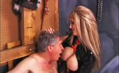 Face Sitting Freaks Candy Cottons Smothering Torture Chamber Dominatrix Candy Cotton Ties Her Victim To Cross And Smothers Him With Her Gigantic Tits. She Forces Him To The Ground, Stands Above Him And Gets Herself Off. Candy Cotton Continues To Humiliate Her Slave By Orderi