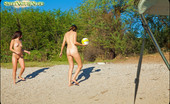 Sweet Nature Nudes Bree Bree Presents Nudist Volleyball These Two Girls Are At It Again Playing Around Nude Near The Water!... Sweet Nature Nudes