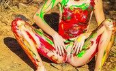 Sweet Nature Nudes 510749 Claire Claire Presents Dirty Girl Naughty Petite Teen Spreading Pussy Covered In Finger Paint... Sweet Nature Nudes
