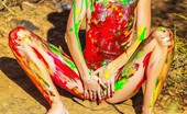 Sweet Nature Nudes Claire Claire Presents Dirty Girl Naughty Petite Teen Spreading Pussy Covered In Finger Paint... Sweet Nature Nudes