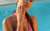 Sun Erotica Claudia Rossi Sexy Teen Babe Claudia Rossi Posing In Her Pink Bikinis By The Pool Sun Erotica