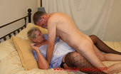 British Granny Fuck Blonde Granny Wearing Fishnet Stockings British Granny Fuck