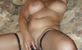 Latina Angel Mature Angel In Fishnets And Fucking Her Pussy Latina Angel