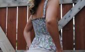 Petite Lover Tiff Petite Blonde Tiff In A Beige Skirt Petite Lover