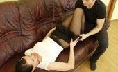 Nylon Butterfly Teen In Pantyhose Fucked On A Couch Lovely Teen Babe In Sexy Black Nylons Gets Licked And Fucked By Horny Young Fella Nylon Butterfly