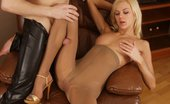 Nylon Butterfly Blonde Teen In Nylons Gives Footjob Blonde Teen Hottie In Sexy Pantyhose Spreads, Sucks Cock And Gives Nasty Footjob Nylon Butterfly
