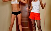 Pantyhose Sports Two Hot Girls In Pantyhose Workout Pantyhose Sports