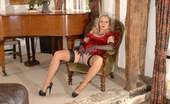 Nylon Extreme Blonde In Layered Nylons Poses Nylon Extreme