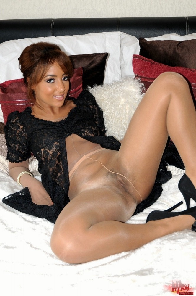 All clear, nylon pantyhose encasement confirm