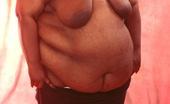 Hardcore Fatties 519797 Heavy Ebony Fat Chick Showing Fat Belly And Tits Hardcore Fatties