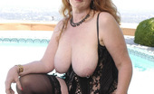 Hot 60 Club Suzanne Stacked Grandma Shows Off Her Huge Tits! Hot 60 Club