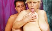 Granny Lesbian Club Ela & Michaela Lesbian Grannies Love Their Dildo Mania! Granny Lesbian Club
