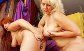 Granny Lesbian Club Claudie & Karen Blond Granny Claudie Fucks Karen With Dildo Granny Lesbian Club