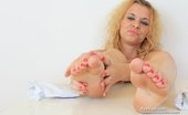 Feet Luv Sophia Magic Hot Babe Sophia Magic Latex Cock Footjob Feet Luv