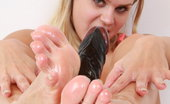 Feet Luv Barra Brass Sex Toy Gets An Amazing Footjob By The Attractive Barra Brass Feet Luv
