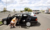 Public Place Pussy Alexa Sex With Blonde Girl With Big Boobs At A Crowded Parking Lot Public Place Pussy