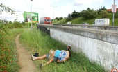 Public Place Pussy Mia Hilton Having Hardcore And Horny Sex On The Public Motorway Pics Public Place Pussy