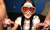 Sinful Handjobs Melissa Lauren Puts On Her Ski Goggles And Gets Down On Her Knees To Milk Two Dicks Dry Sinful Handjobs