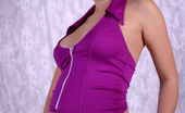 She Got Knocked Up Pregnant Teen Busting Out Of Her Purple Suit She Got Knocked Up