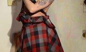 Smut Makers 523882 Lee Von Lee Von Lux Sexy Plaid Dress Smut Makers