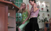 Lick Nylons Mima & Paulina Strap-On Armed Lesbian Babes In Soft Silky Stockings Playing Dirty Games Lick Nylons