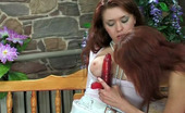 Lick Nylons Theodora & Jennifer Fiery Chick In White Stockings Talked Into Dildo Sex With Wet Sixty-Nining Lick Nylons