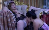 Lick Nylons Matty & Rosa Gloved And Stocking Clad Lady Cheers Up Her Lez Lover With Wet Clam-Diving Lick Nylons