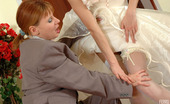Lick Nylons Alice & Emilia Two Girls Dressed As Bride And Bridegroom Go For Wet Role Play In Stockings Lick Nylons
