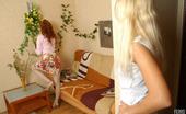 Lick Nylons Rita & Misty Horny Blonde Peeking Under Skirt Of Stockinged Redhead Eager For Lez 69ing Lick Nylons