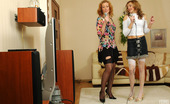 Lick Nylons Helena & Melanie Two Female Friends In Silky Nylons Getting To Hot Tongue Job After Karaoke Lick Nylons