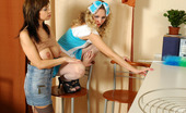 Lick Nylons Gertie & Sophia Heated Babe Sweet Talking A White-Stockinged French Maid Into Sapphic Love Lick Nylons