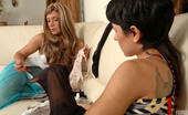 Lick Nylons Sheila & Subrina Tender Lezzies Trying New Back Seam Stockings Indulging Their Nylon Passion Lick Nylons