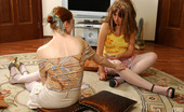 Lick Nylons Rita & Linda Heated Redhead In White Nylons Showing Her Shy Friend Hot Lesbian Caresses Lick Nylons