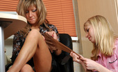 Lick Nylons Nora & Paulina White-Stockinged Babe Going For Nylon Lesbian Sex With Her Female Co-Worker Lick Nylons