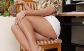 Leg Seeker 524860 Saphire Horny Secretary In White Stockings Leg Seeker