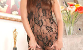 Like Legs Bobbi Blair Foxy Vixen Bobbi Blair In Black Lacy Bodystocking Like Legs